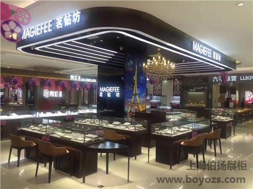 供应上海珠宝饰品柜的设计价格 伯扬供