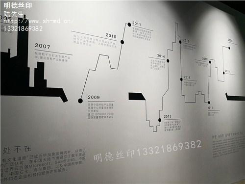 提供上海丝网印刷墙面明德供