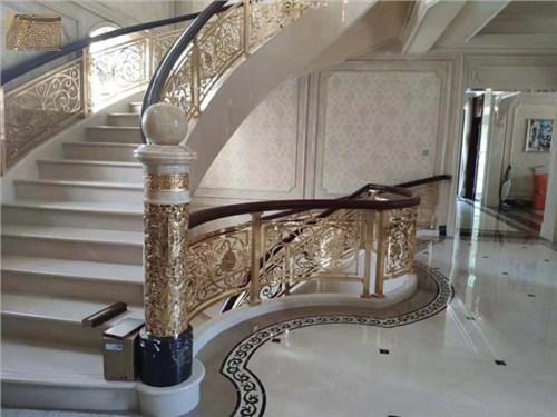 上海中式镀金铜扶手批发 上海普孜铜制品供应