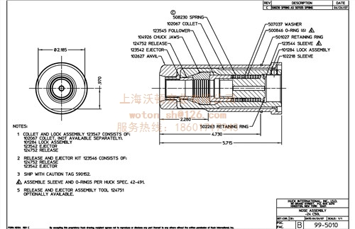 HUCK99-5010液压铆枪头   沃顿供