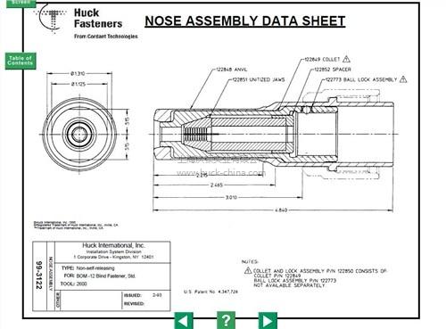 HUCK99-3122铆钉枪头-代理-沃顿供