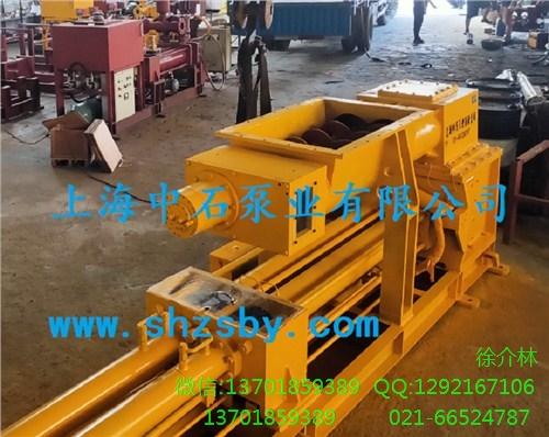 污泥干化输送泵 污泥干化上料泵 污泥干化上料柱塞泵-上海中石
