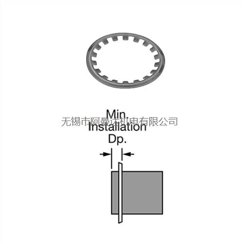 Rotor Clip Company Inc自锁外卡环