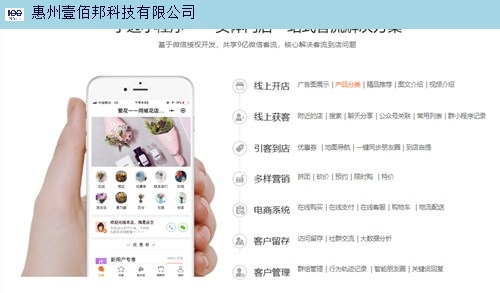 梅州小程序開發免費咨詢 惠州壹佰邦科技供應