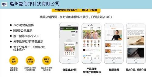 河源小程序商城专业团队在线服务 惠州壹佰邦科技供应