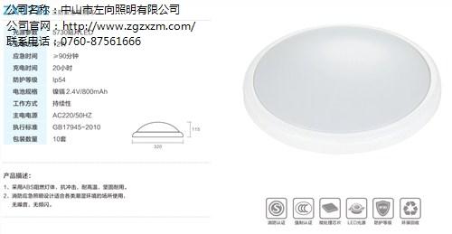 销售深圳消防应急挂壁式吸顶灯生产厂家价格 左向供