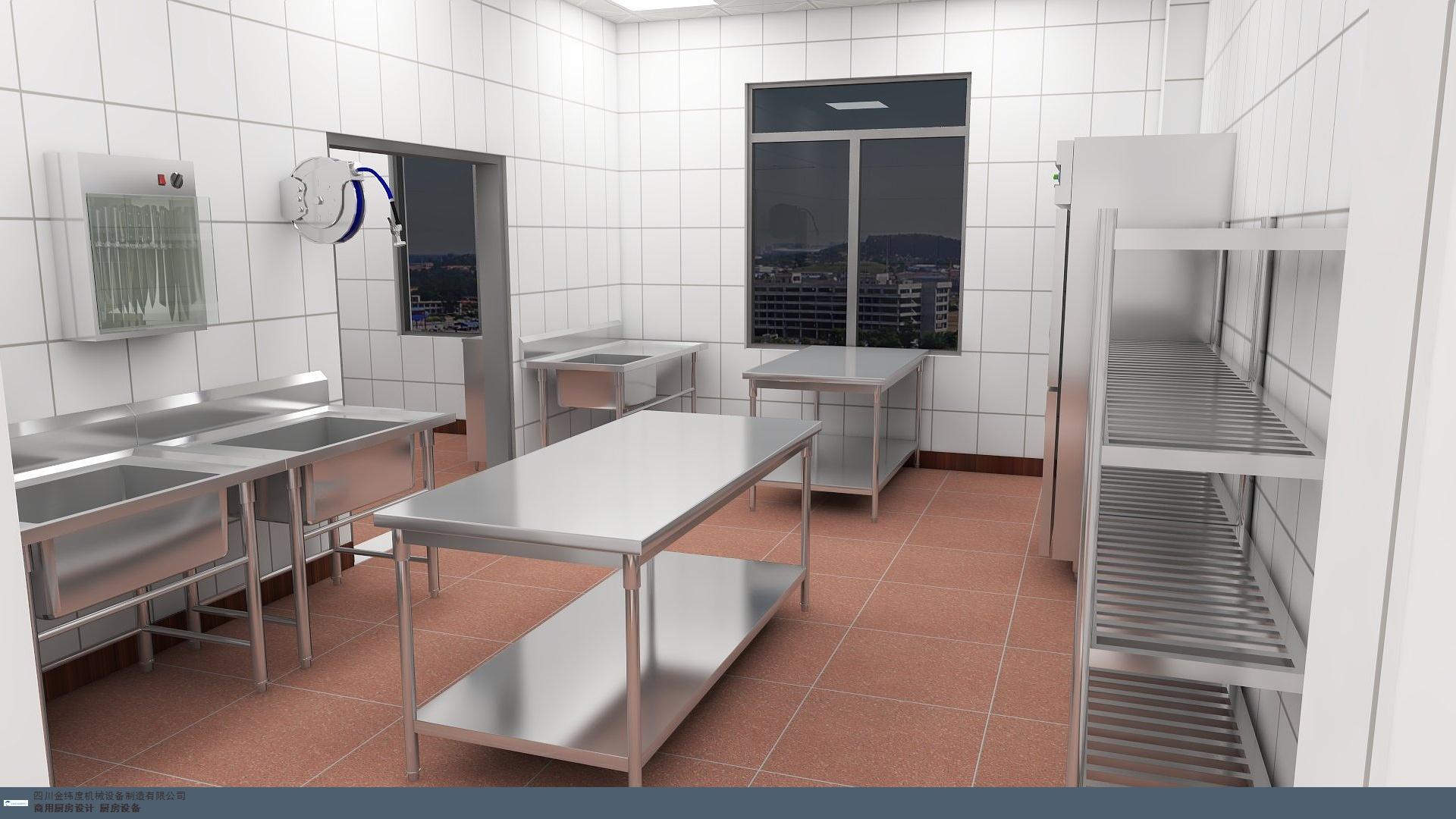 乐山医院食堂厨房设计哪家好,厨房设计图片