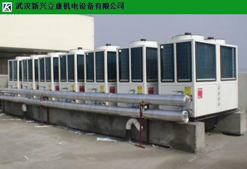洪山售楼部美的风冷模块式水机中央空调维护 客户至上 武汉新兴立康机电设备工程供应