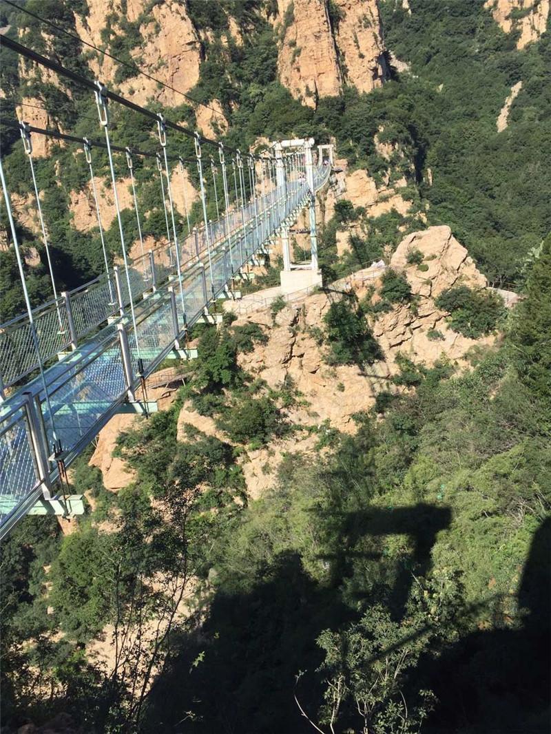 湖南省钢架吊桥施工,吊桥