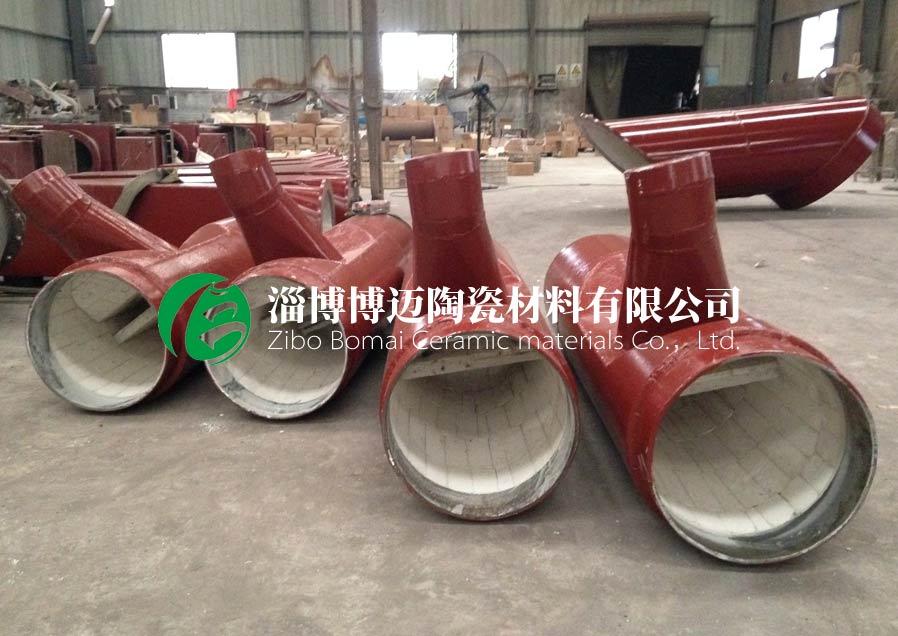 云南复合耐磨陶瓷管道弯头 淄博博迈陶瓷材料供应