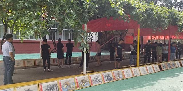 张店建桥实验学校附近少儿素描辅导「淄博新动力画室服务」