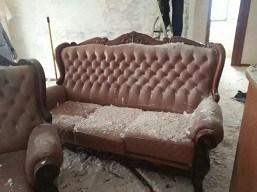 皮沙发修补上色
