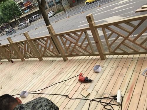 湖南户外防腐木护栏批发,防腐木护栏