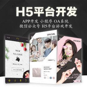 H5游戏微信公众号游戏微信小游戏高级定制