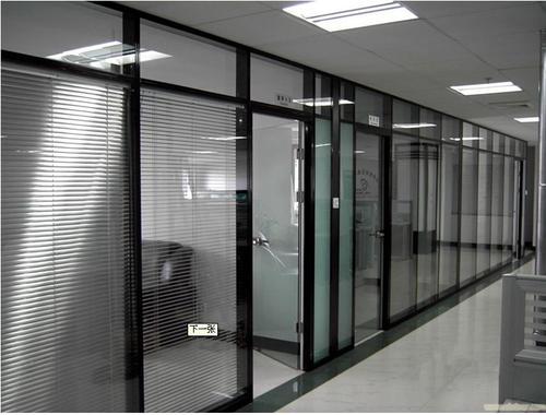 上海普陀區固定雙層玻璃百葉隔斷