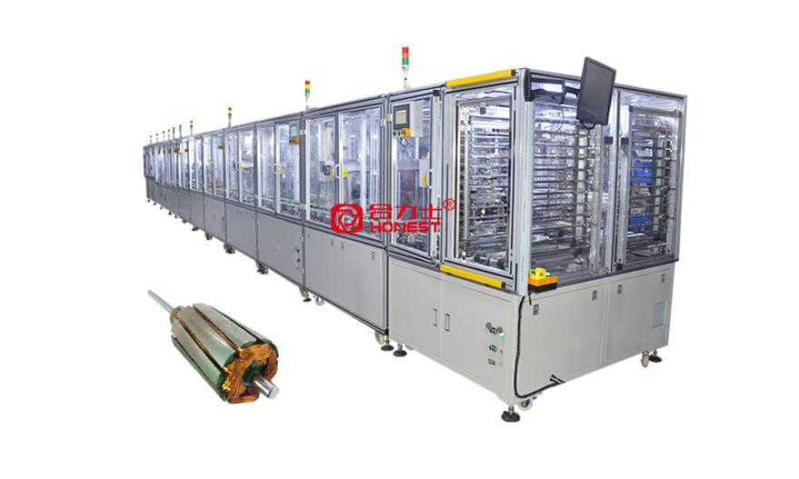 電機磁瓦組裝線 電機裝配線 深圳市合力士機電設備供應;