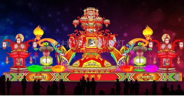 萊蕪元宵節彩燈來樣訂制「周村京韻花燈供應」