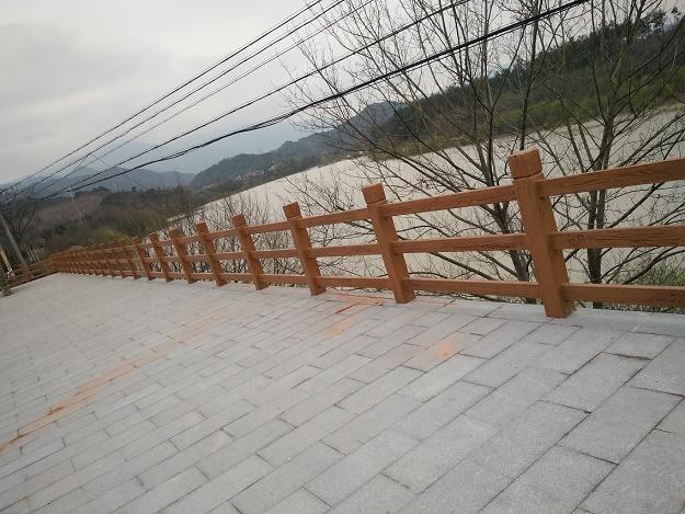 鄞州区仿木仿石栏杆 宁波俊辉园林景观工程供应