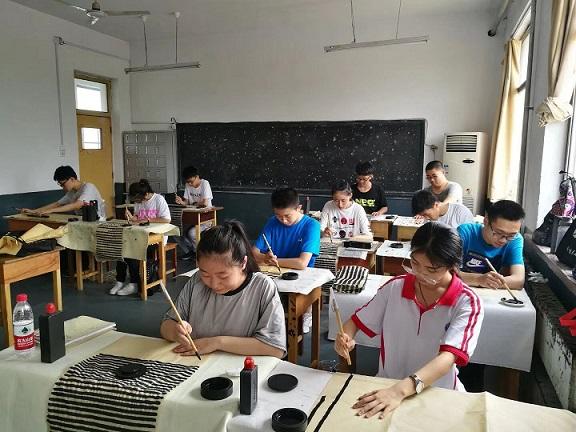张店九中暑假书法培训中心,书法