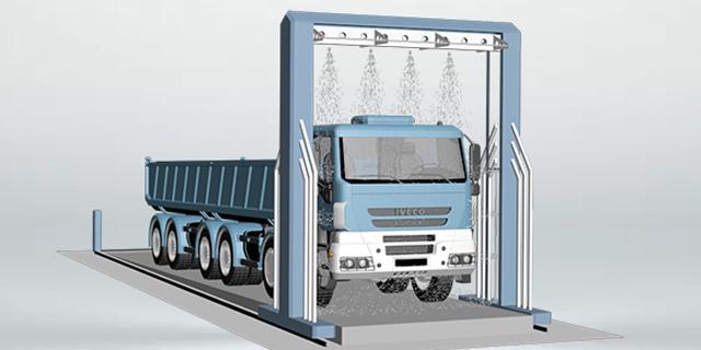 河南半挂大货车智能洗车设备多少钱 太仓麦迪斯供应