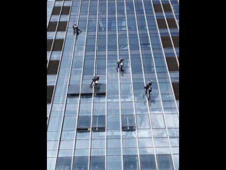 廈門玻璃幕墻外墻清潔,外墻