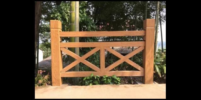 FX型仿木护栏施工