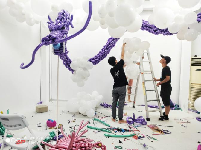 江门卡通气球气球造型培训班费用 广州私人定制活动策划供应