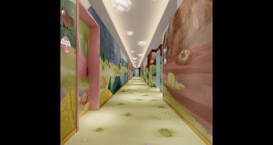 天津装修主题亲子酒店设计