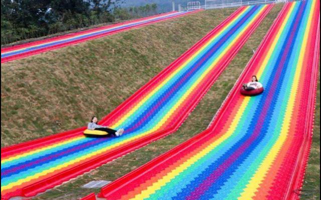 石家庄彩虹滑道价格,彩虹滑道