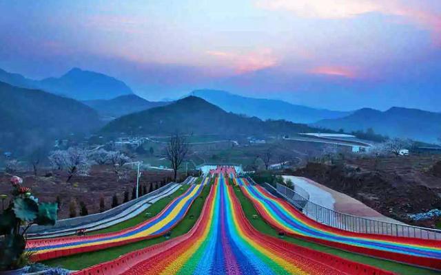 温州水上乐园彩虹滑道建设,彩虹滑道