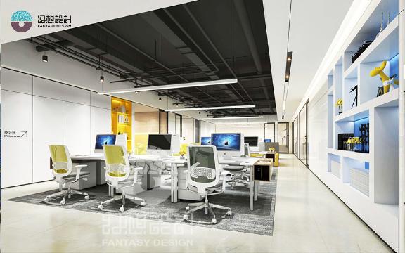 珠海辦公室設計效果圖 鑄造輝煌「深圳幻想設計供應」