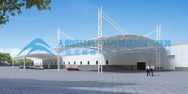 浙江大型膜结构停车棚定做,膜结构停车棚