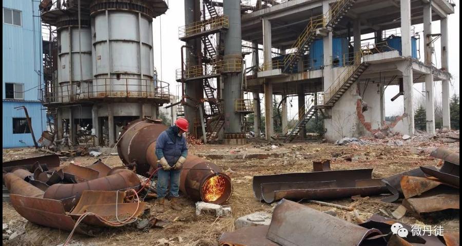 化工廠廠房拆除哪家強 有口皆碑「昆山金德福再生資源供應」
