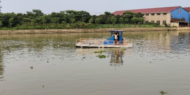山东水莲蓬半自动垃圾收集船市场价,收集运输船