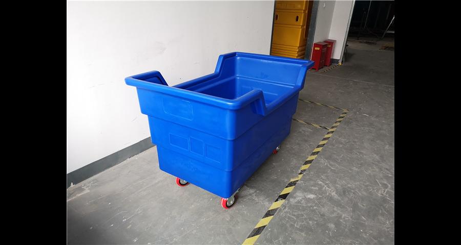 杭州洗涤厂搬运车生产厂家 诚信互利「上海罗泰兴滚塑机械供应」
