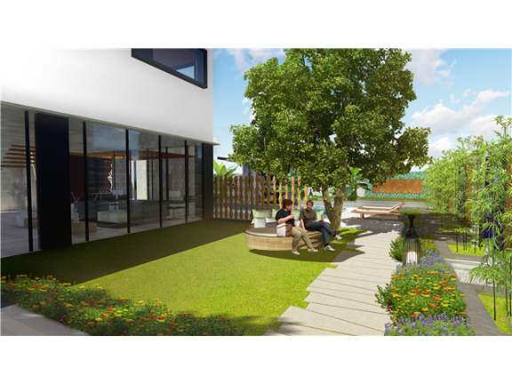 杭州家庭庭院工程平面 上海美觉景观规划设计供应