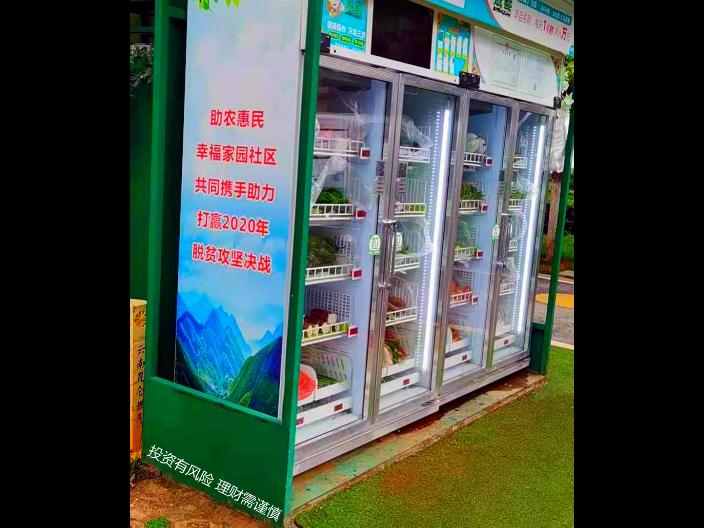 昆明無人果蔬售賣機加盟費 晟鮮無人售貨果蔬機蜜廚供應