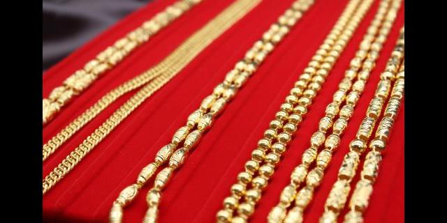 胶州旧黄金回收「青岛铭仕珠宝首饰供应」