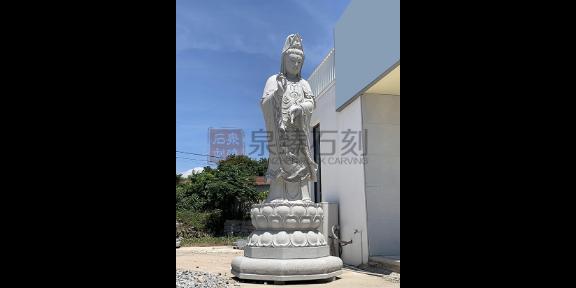 天津送子观音石雕,观音佛像