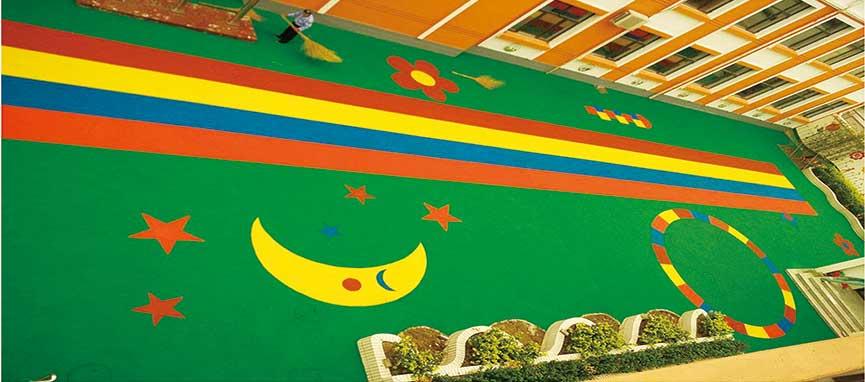 驻马店硅PU羽毛球场 山东绿通建筑装饰供应