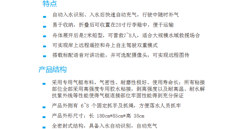 折叠款智能遥控救援舟市场报价 欢迎来电 上海昌睦环境科技供应
