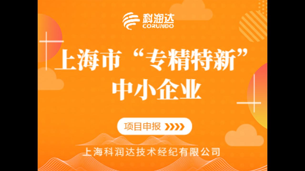 閔行區上海市專精特新中小企業,上海市專精特新中小企業