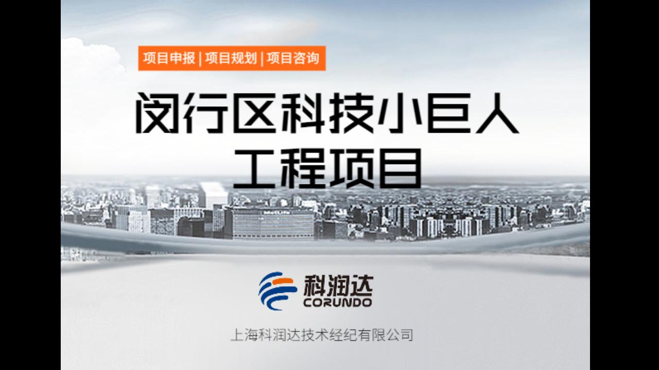 闵行区七宝镇闵行区科技小巨人工程项目,闵行区科技小巨人工程项目