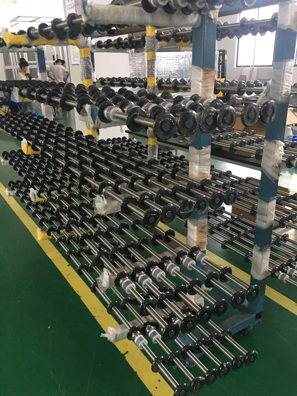 LCD输送轴_UPE滚轮_不锈钢轴_齿轮加工_上海阔启