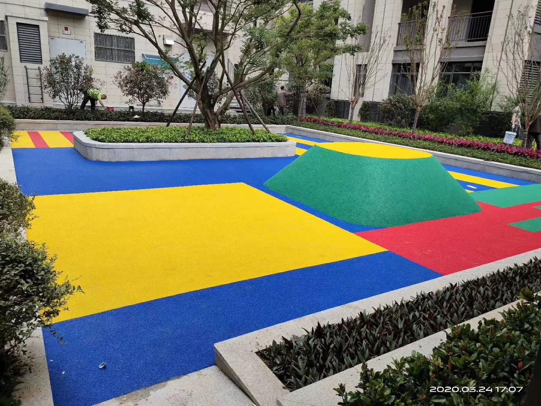 杭州公园EPDM塑胶地坪建设,EPDM塑胶地坪