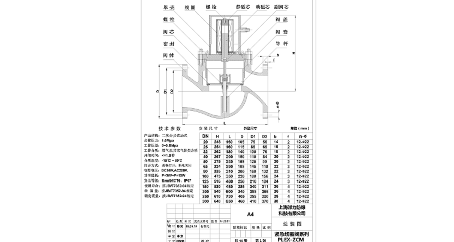 上海防爆紧急切断阀报价 服务至上 上海派力防爆科技供应
