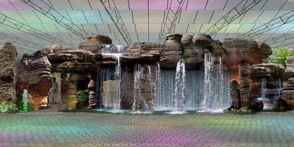 山东庭院假山设计施工方案,塑石假山设计施工