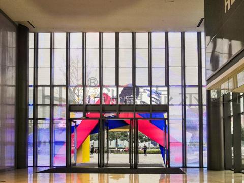 江苏HDC玻璃幕墙led透明屏专业生产,HDC幕墙屏