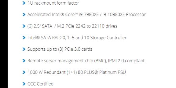 合肥HF314G4 10980XE18core 4.8g高頻服務器供應商
