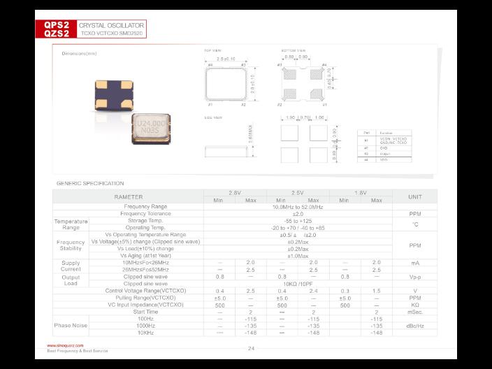 上海低功耗晶体振荡器供应商 欢迎来电 苏州奥泰克电子科技供应